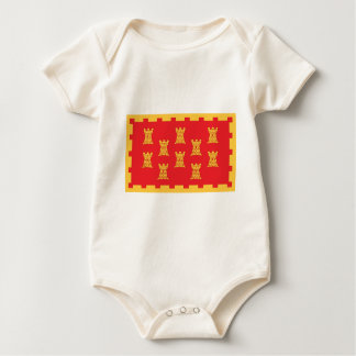 The County Flag of Greater Manchester Baby Bodysuit