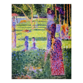 The Couple by Georges Seurat, Vintage Pointillism Poster