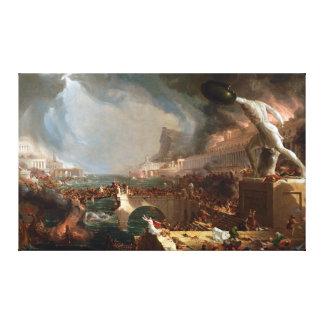 The Course of Empire: Destruction by Thomas Cole Canvas Print