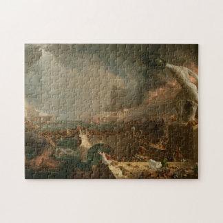 The Course of Empire - Destruction by Thomas Cole Puzzles