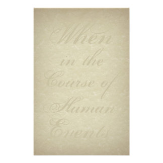 The Course of Human Events stationery