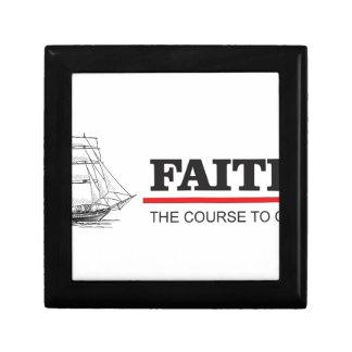 the course to god is faith keepsake box