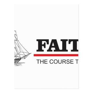the course to god is faith postcard