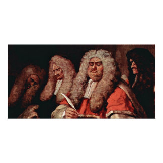 The Court By Hogarth, William (Best Quality) Customized Photo Card
