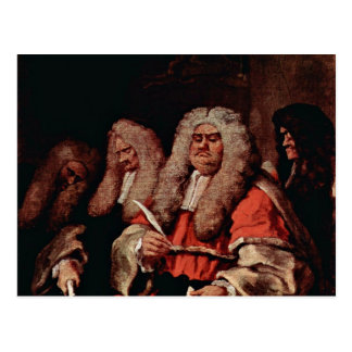The Court By Hogarth, William (Best Quality) Postcard