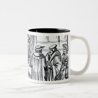 The Court of a Baron, after a woodcut in 'Cosmogra Two-Tone Coffee Mug