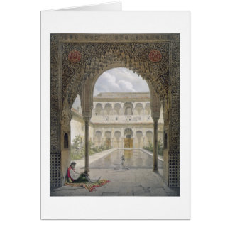 The Court of the Alberca in the Alhambra, Granada, Greeting Card