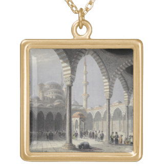 The Court of the Mosque of Sultan Achmet, Istanbul Gold Plated Necklace