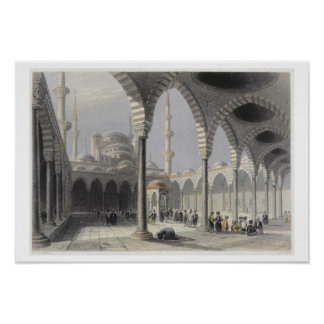 The Court of the Mosque of Sultan Achmet, Istanbul Poster