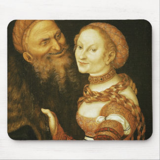 The Courtesan and the Old Man, c.1530 Mouse Pad