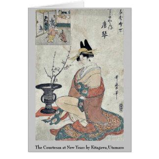 The Courtesan at New Years by Kitagawa,Utamaro Card