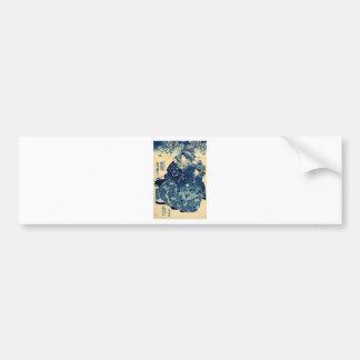 The Courtesan Hanao of Ogiya by Utagawa,Kuniyoshi Bumper Sticker