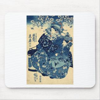 The Courtesan Hanao of Ogiya by Utagawa,Kuniyoshi Mouse Pad