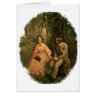 The Courtship by George Cochran Lambdin Greeting Card