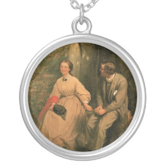 The Courtship by George Cochran Lambdin Round Pendant Necklace