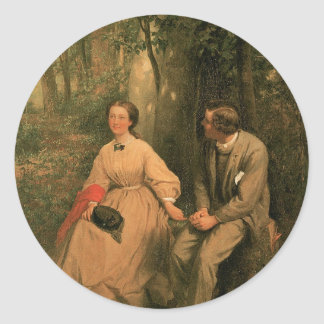 The Courtship by George Cochran Lambdin Sticker