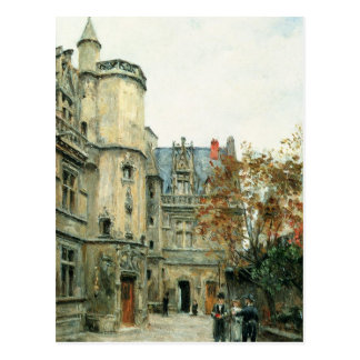 The Courtyard of the Museum of Cluny, c.1878-80 Postcard