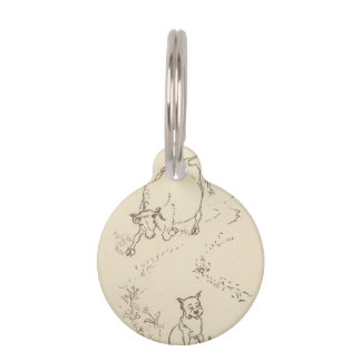 """""""THE COW AND THE DOG"""" PET TAGS"""
