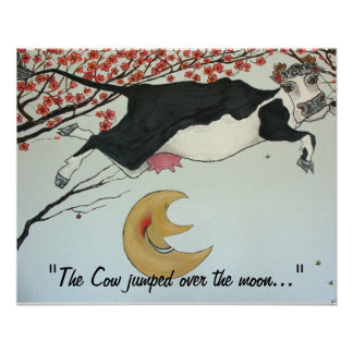 The Cow jumped over the Moon Print