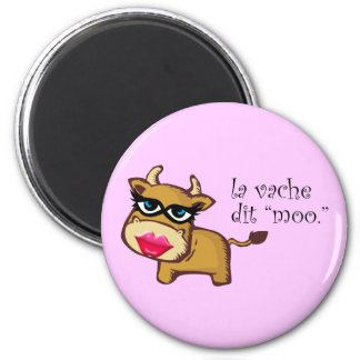 """The cow says moo"" Magnet"
