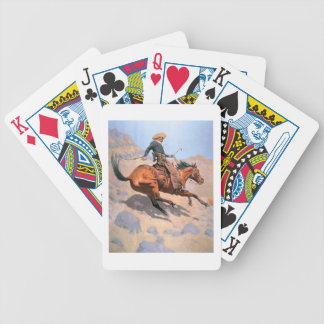 The Cowboy (oil on canvas) Bicycle Playing Cards