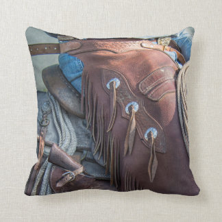 The cowboy way. throw pillow