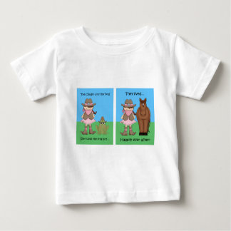 The Cowgirl and the Frog Brunet Baby T-Shirt