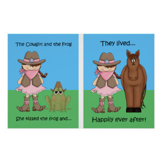 The Cowgirl and the Frog Poster Brunet