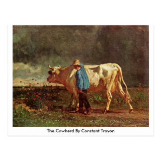 The Cowherd By Constant Troyon Postcard