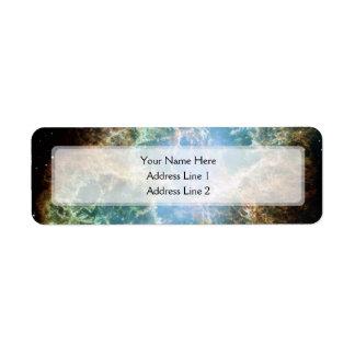 The Crab Nebula (Hubble Telescope) Return Address Label