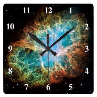 The Crab Nebula Square Wall Clock
