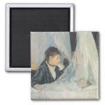 The Cradle, Berthe Morisot, Vintage Impressionism Refrigerator Magnets