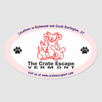 The Crate Escape Oval Sticker