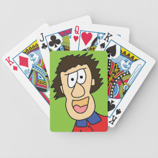 the crazy grandpa cartoon bicycle playing cards