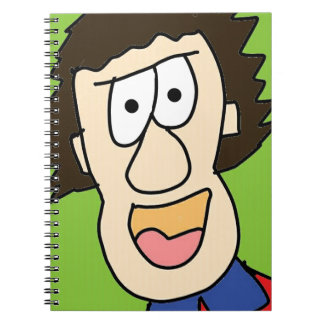 the crazy grandpa cartoon spiral notebook