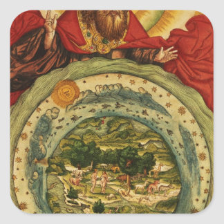 The Creation, from the Luther Bible, c.1530 Stickers