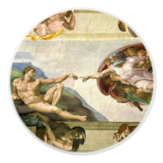 The Creation of Adam by Michelangelo Fine Art Ceramic Knob