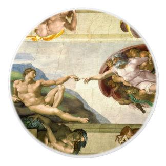 The Creation of Adam by Michelangelo Fine Art Ceramic Knob