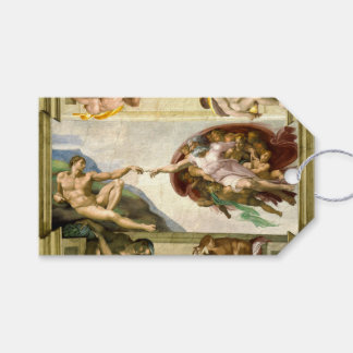 The Creation of Adam by Michelangelo Fine Art Pack Of Gift Tags