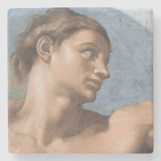 The Creation of Adam by Michelangelo stone coaster