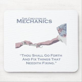 The Creation of Mechanics Mouse Pad