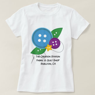 The Creation Station Button T-Shirt (Blue Version)