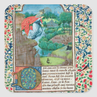 The Creation World, from 'Traite de Medecine' Square Sticker