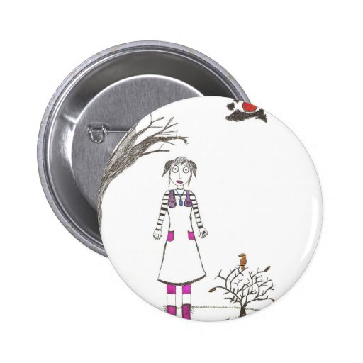 The creepy clown girl buttons