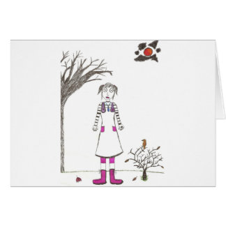 The creepy clown girl card