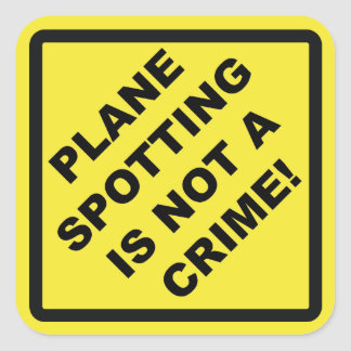 The Crime glides Spotting IS Not! Square Sticker