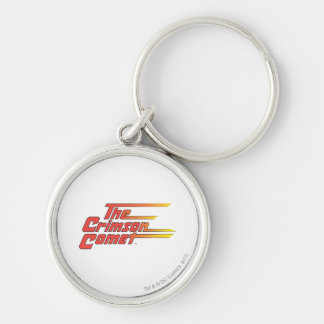 The Crimson Comet Logo Silver-Colored Round Keychain
