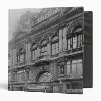The Criterion Restaurant and Theatre, 1902 Binder