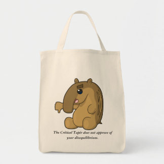 The Critical Tapir Does Not Approve Tote Bag