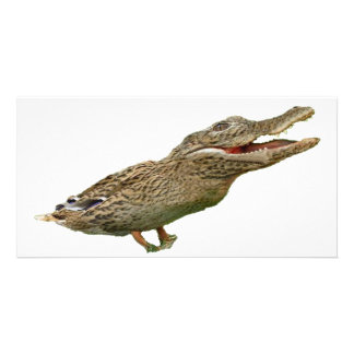 The Crocoduck Personalized Photo Card
